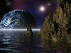 Space Wallpaper - Sea covers Earth