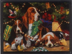 Christmas Wallpaper - Xmas dogs