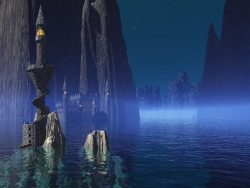 3D and Digital art Wallpaper - Ancient castle