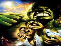 3D and Digital art Wallpaper - Hulk transforming