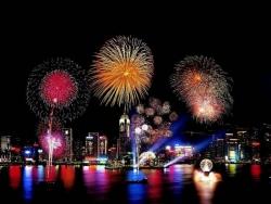 Landscape Wallpaper - Hongkong Fireworks