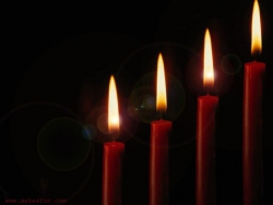 Photograph Wallpaper - Four candles