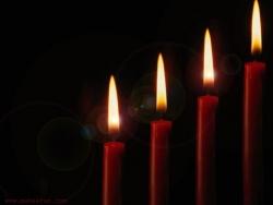 Photograph Wallpaper - Four candles
