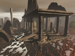 3D and Digital art Wallpaper - Ruins