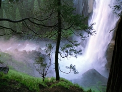 Landscape Wallpaper - Romantic waterfalls