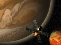 Space Wallpaper - Passing satellite
