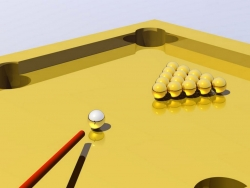 3D and Digital art Wallpaper - Gold pool table