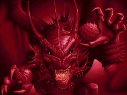 3D and Digital art Wallpaper - Red dragon