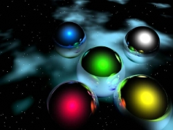 Art Wallpaper - Colourful balls