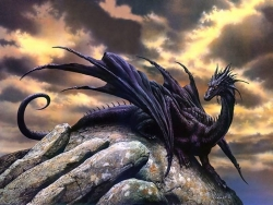 3D and Digital art Wallpaper - Black Dragon
