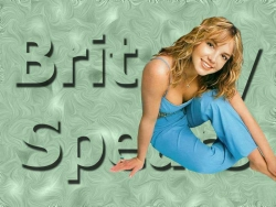 Celebrity Wallpaper - Brit in blue
