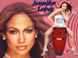 Celebrity Wallpaper - Jlo Drum