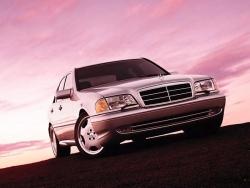 Car Wallpaper - Mercedes in sunset