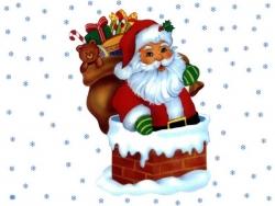 Christmas Wallpaper - Santa candy