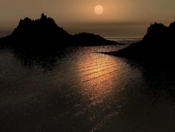 Landscape Wallpaper - Ocean nite