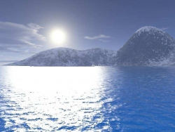 Landscape Wallpaper - Moon on the sea