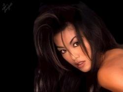 Model Wallpaper - Sung Hi Lee's face