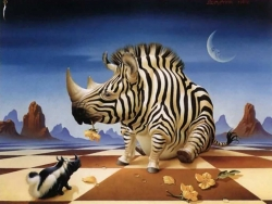 Animal Wallpaper - Striped Rhino