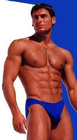 Sexy Wallpapers & Pictures - Hunk in blue