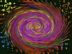Art Wallpaper - Colour whirl