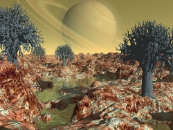 3D and Digital art Wallpaper - Alien planet