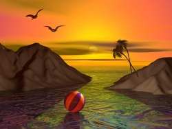 3D and Digital art Wallpaper - Beach ball