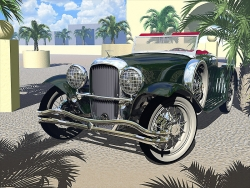 3D and Digital art Wallpaper - Classic car
