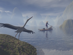3D and Digital art Wallpaper - Crane