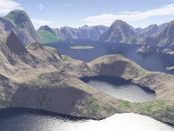 3D and Digital art Wallpaper - Crater lake