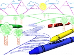 3D and Digital art Wallpaper - Crayon