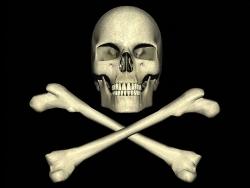 3D and Digital art Wallpaper - Cross bones