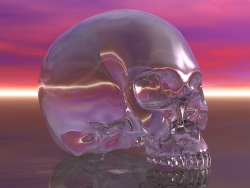 3D and Digital art Wallpaper - Crystal skull