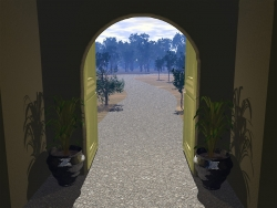 3D and Digital art Wallpaper - Door way