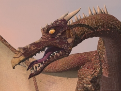 3D and Digital art Wallpaper - Dragon close up
