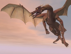 3D and Digital art Wallpaper - Dragon flight
