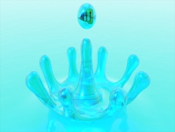 3D and Digital art Wallpaper - Drop let