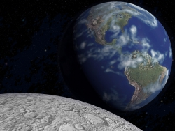 3D and Digital art Wallpaper - Earth rise