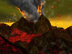 3D and Digital art Wallpaper - Eruption