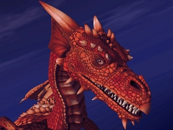 3D and Digital art Wallpaper - Fire dragon