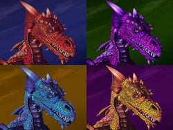3D and Digital art Wallpaper - Four dragons