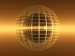 3D and Digital art Wallpaper - Golden globe