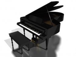 3D and Digital art Wallpaper - Grand piano