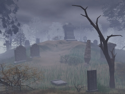 3D and Digital art Wallpaper - Grave yard