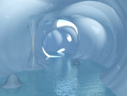 3D and Digital art Wallpaper - Ice cave