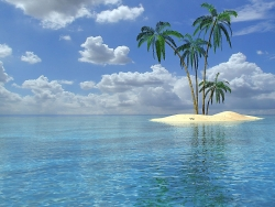 3D and Digital art Wallpaper - Little island