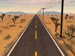 3D and Digital art Wallpaper - Quite road