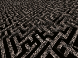 3D and Digital art Wallpaper - Maze