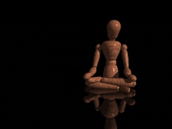 3D and Digital art Wallpaper - Meditating wood