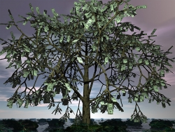 3D and Digital art Wallpaper - Money tree