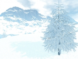 3D and Digital art Wallpaper - Mountain frost